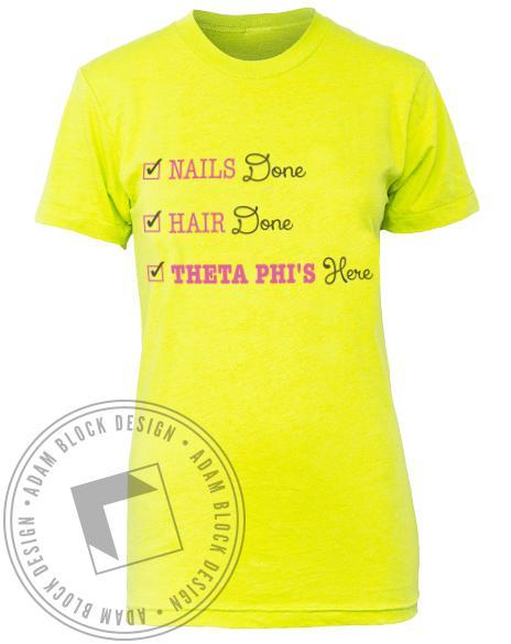 Theta Phi Alpha Hair Nails Fancy Tee-gallery-Adam Block Design