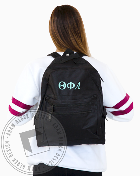 Theta Phi Alpha Letter Backpack-gallery-Adam Block Design