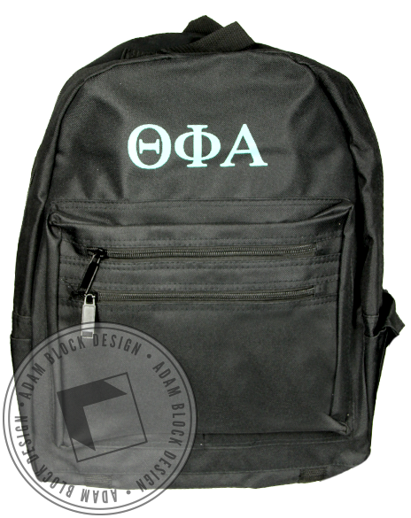 Theta Phi Alpha Letter Black Backpack-gallery-Adam Block Design