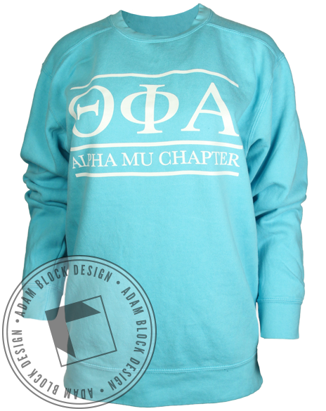Theta Phi Alpha Letter Sweatshirt-gallery-Adam Block Design