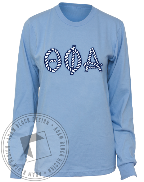 Theta Phi Alpha Nautical Longsleeve-gallery-Adam Block Design