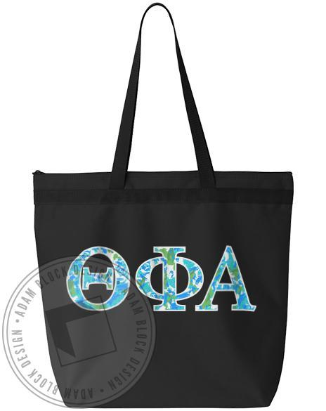 Theta Phi Alpha Pattern Letter Tote-gallery-Adam Block Design