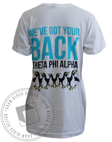 Theta Phi Alpha Penguin Bid Day Tee-Adam Block Design
