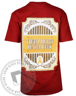Theta Phi Alpha Phight Hunger Pocket Tee-Adam Block Design