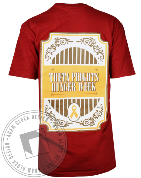 Theta Phi Alpha Phight Hunger Pocket Tee-gallery-Adam Block Design