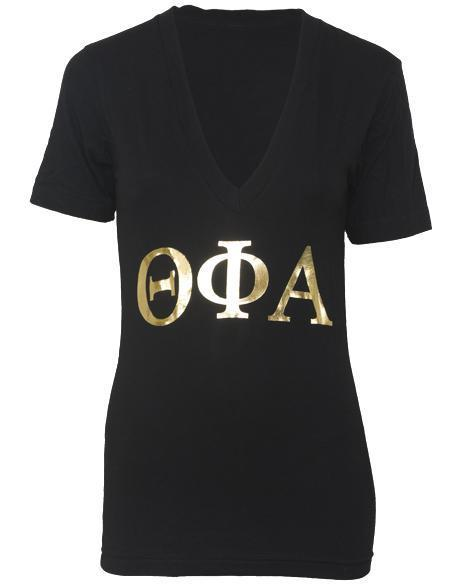 Theta Phi Alpha Sassy And Sweet Treat V-neck-gallery-Adam Block Design