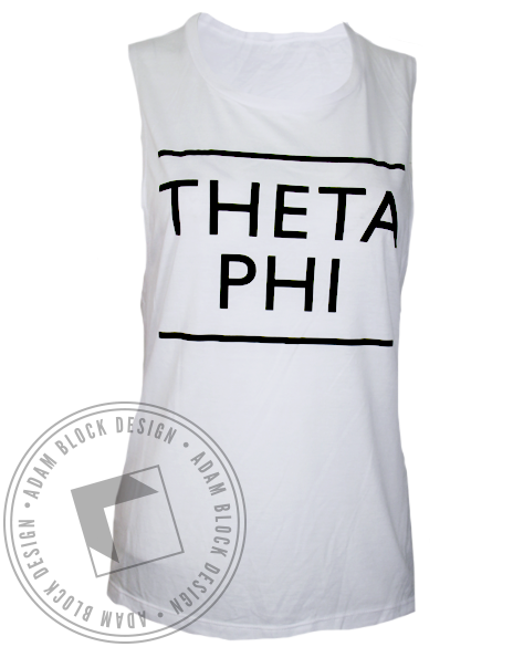 Theta Phi Alpha Simple Lines Tank Top-Adam Block Design
