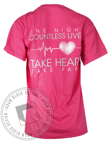 Theta Phi Alpha Take Heart Pocket Tee-gallery-Adam Block Design