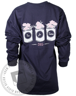 Theta Phi Alpha Tea for Tatas Longsleeve Shirt-gallery-Adam Block Design