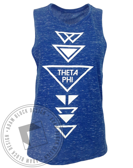 Theta Phi Alpha Triangle Marble Tank-Adam Block Design