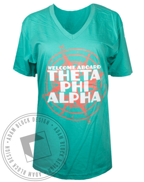 Theta Phi Alpha Welcome Aboard Tshirt-Adam Block Design