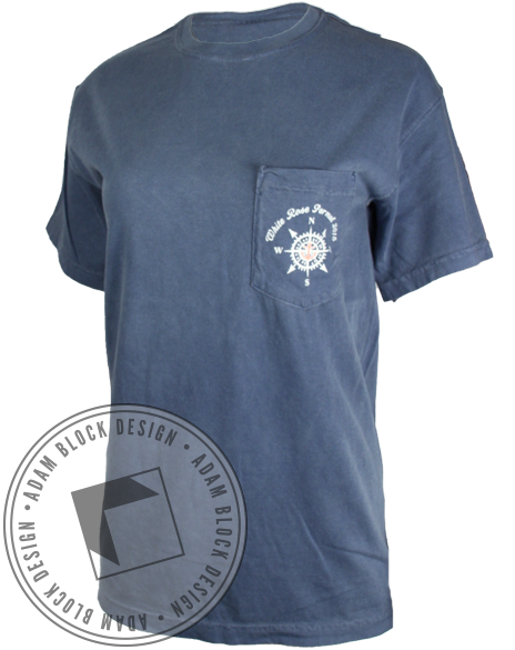 Theta Phi Alpha White Rose Formal Pocket Tee-gallery-Adam Block Design