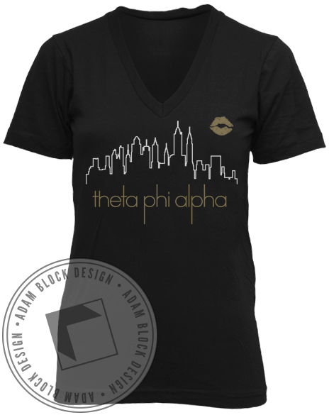 Theta Phi Alpha XOXO V-Neck-gallery-Adam Block Design