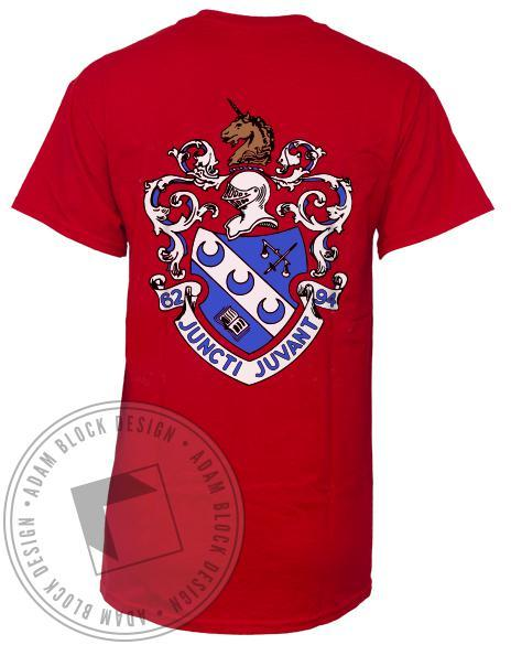 Theta Xi Crest T-shirt-Adam Block Design