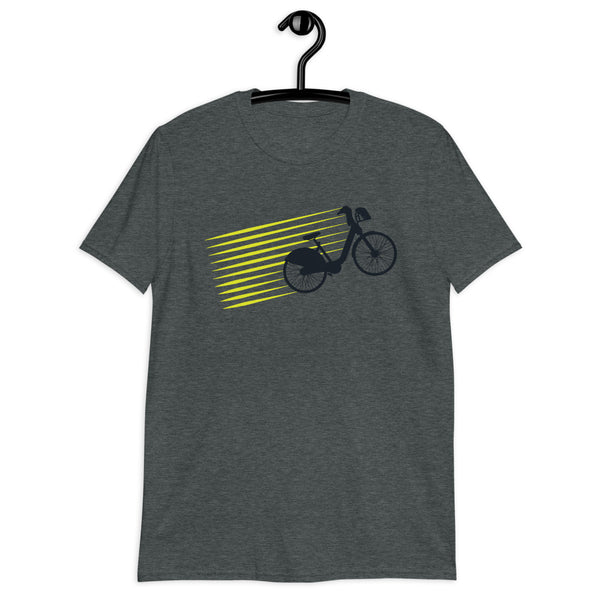 Unisex Retro Bicycle Tee - Color: Dark Heather - Adam Block Design