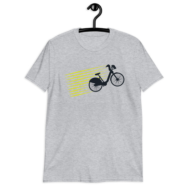 Unisex Retro Bicycle Tee - Color: Sport Grey - Adam Block Design