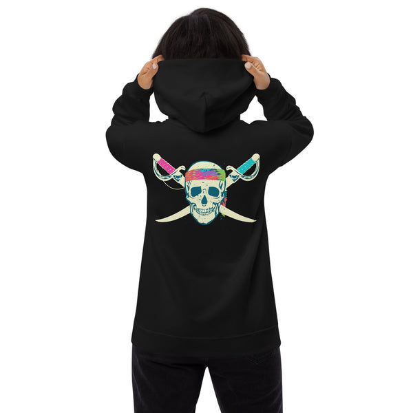 Pirate Skull Hoodie - Color: Black - Adam Block Design
