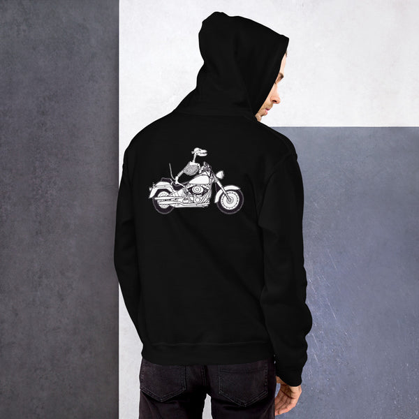 Motorcycle Motopsycho Unisex Hoodie - Color: Black - Adam Block Design