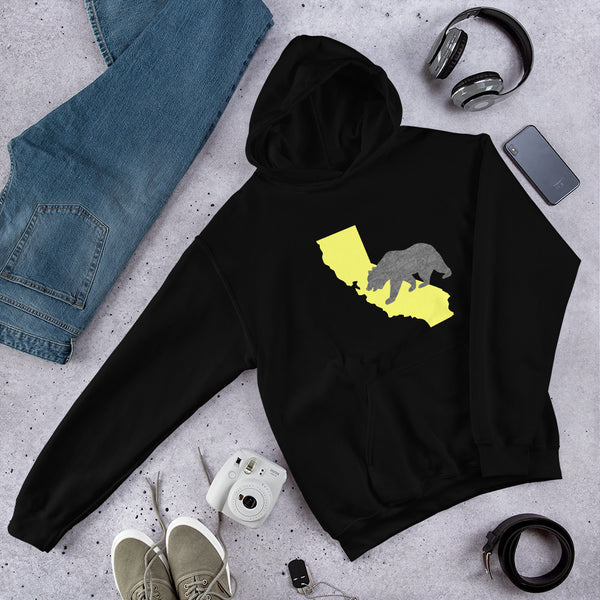 California Bear Golden State Hoodie - Color: Black - Adam Block Design