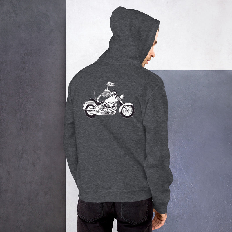 Motorcycle Motopsycho Unisex Hoodie - Color: Dark Heather - Adam Block Design