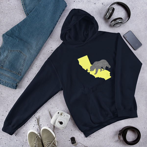 California Bear Golden State Hoodie - Color: Navy - Adam Block Design