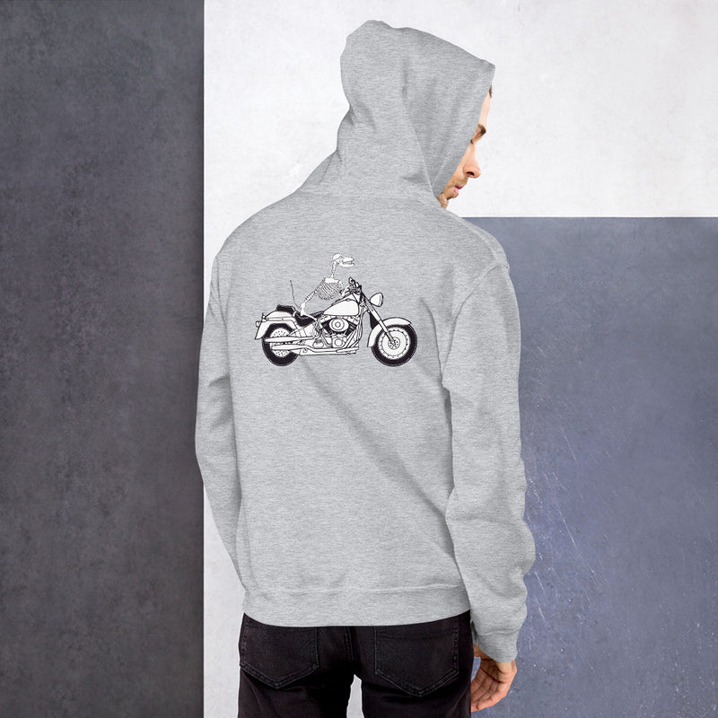 Motorcycle Motopsycho Unisex Hoodie - Color: Sport Grey - Adam Block Design