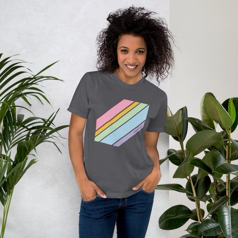 Love is Love Pride Tee - Color: Asphalt - Adam Block Design