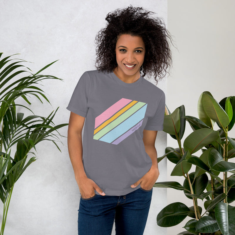 Love is Love Pride Tee - Color: Slate - Adam Block Design