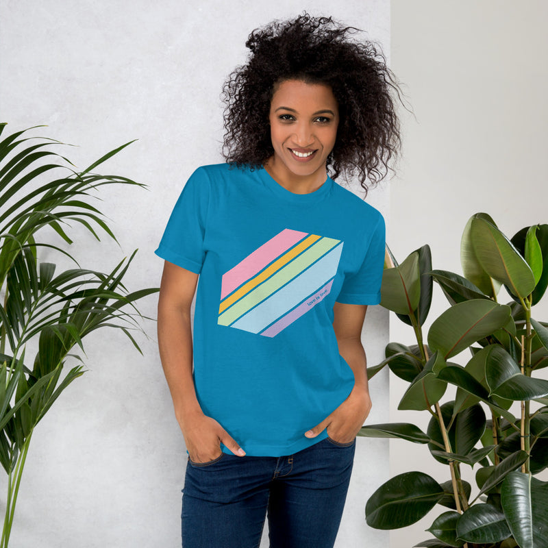 Love is Love Pride Tee - Color: Teal - Adam Block Design