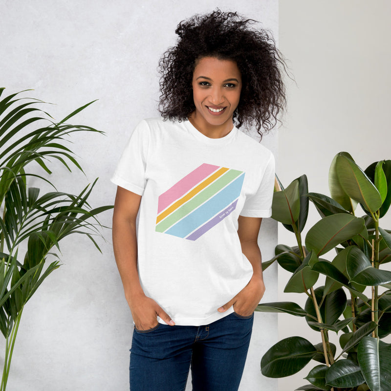 Love is Love Pride Tee - Color: White - Adam Block Design