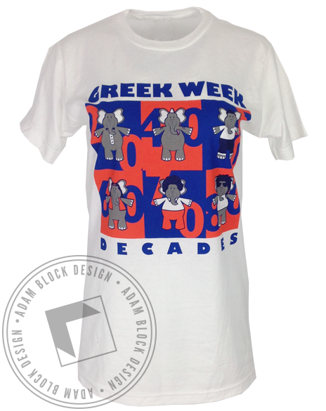 Greek Week Tee - White-gallery-Adam Block Design