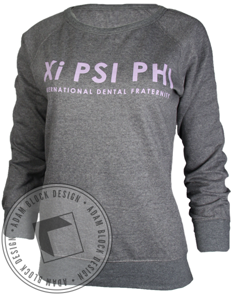 Xi Psi Phi Crest Sweatshirt-Adam Block Design