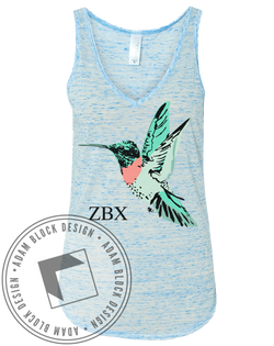 Zeta Beta Chi Hummingbird Tank-Adam Block Design