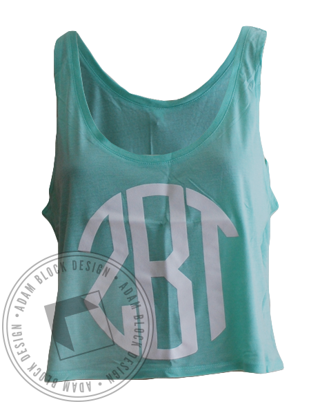Zeta Beta Tau Monogram Tank-gallery-Adam Block Design