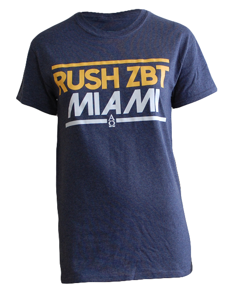 Zeta Beta Tau Rush Miami Tee-Adam Block Design