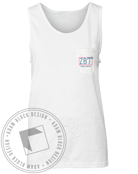 Zeta Beta Tau Rush Pocket Tank-Adam Block Design