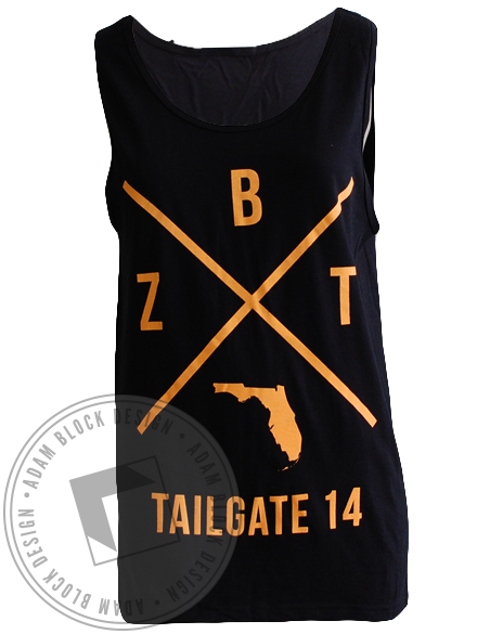 Zeta Beta Tau Tailgate Tank-Adam Block Design