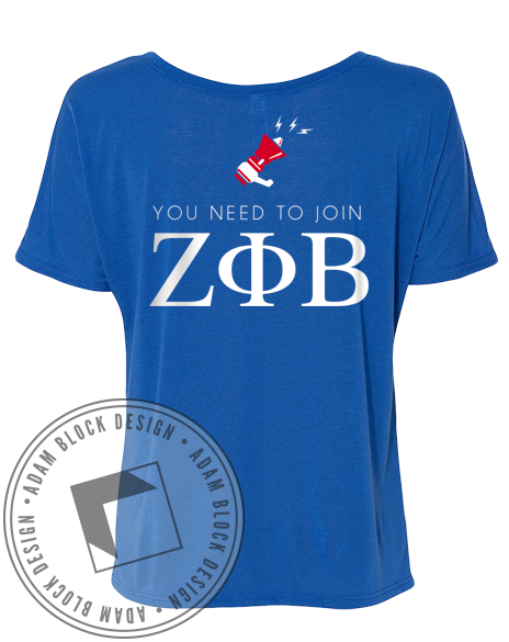 Zeta Phi Beta Announcement Tee-gallery-Adam Block Design
