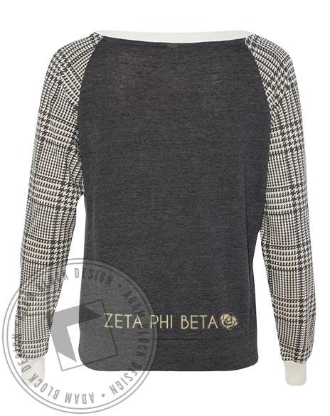 Zeta Phi Beta Crest Raglan-gallery-Adam Block Design