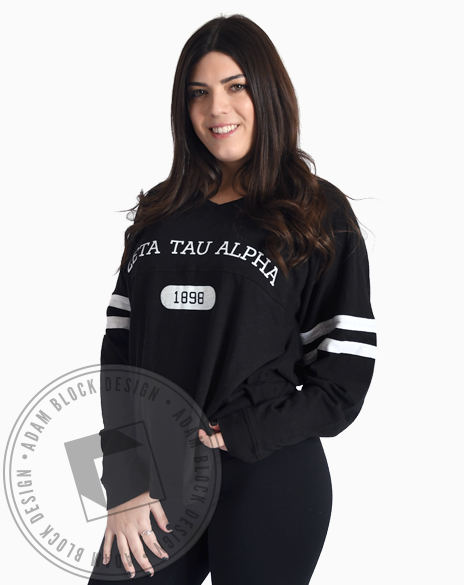 Zeta Tau Alpha 1898 P.E. Striped Longsleeve-Adam Block Design