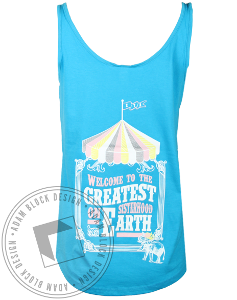 Zeta Tau Alpha Circus Tank Top-Adam Block Design