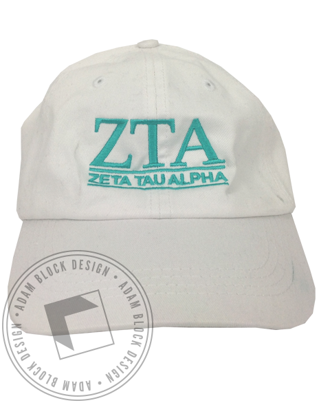 Zeta Tau Alpha Embroidered Hat-gallery-Adam Block Design