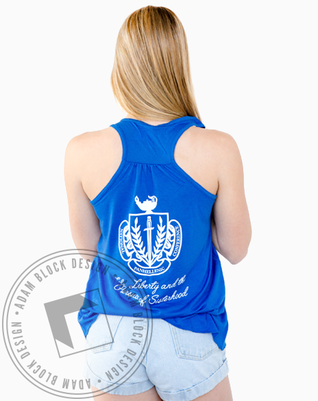Zeta Tau Alpha Flag Tank-Adam Block Design
