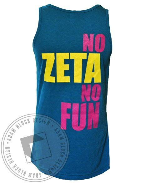 Zeta Tau Alpha Fun Tank-Adam Block Design