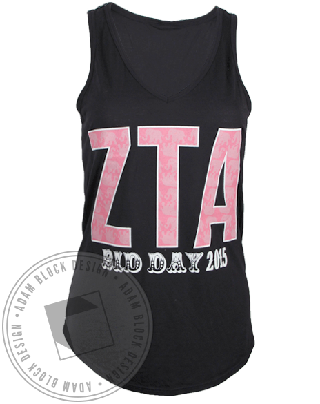 Zeta Tau Alpha Magnificent Sisterhood Tank Top-Adam Block Design