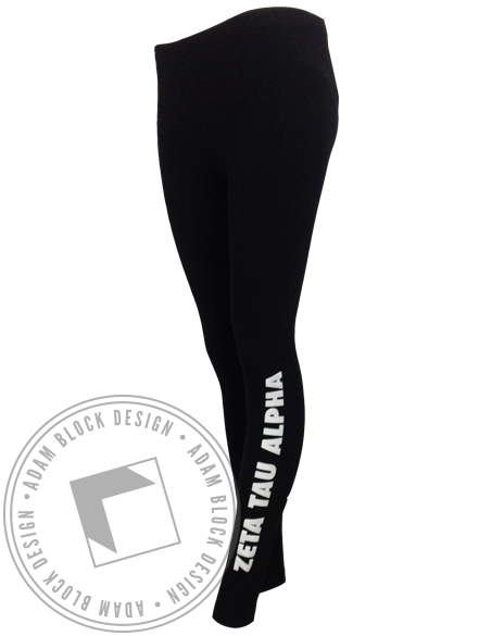 Zeta Tau Alpha Name Leggings-Adam Block Design