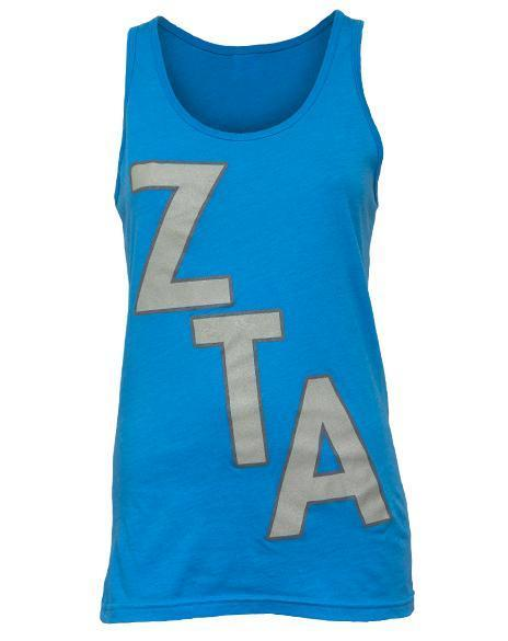Zeta Tau Alpha Never Any Doubt Tank-Adam Block Design