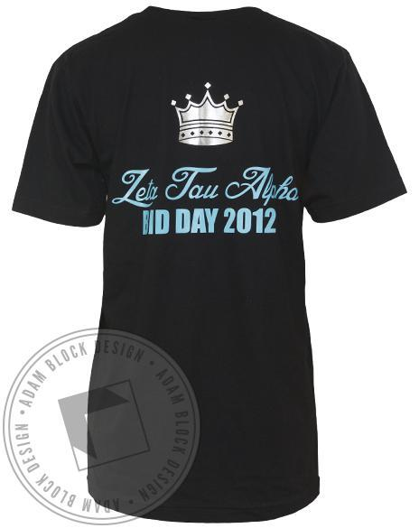 Zeta Tau Alpha New Bids V-Neck-Adam Block Design
