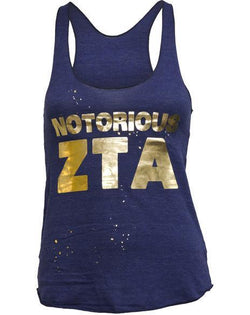 Zeta Tau Alpha Notorious Tank-Adam Block Design