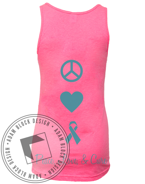 Zeta Tau Alpha Peace Love Tank-Adam Block Design